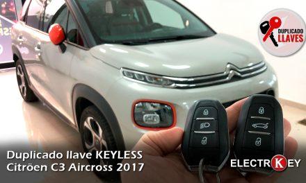 Duplicado de llave KEYLESS Citroen C3 Aircross 2017