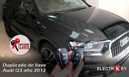 Duplicado llave Audi Q3 2012