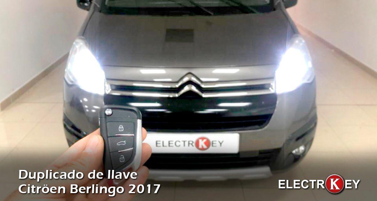 Duplicado de llaves Citroen Berlingo año 2017 🔑🔑