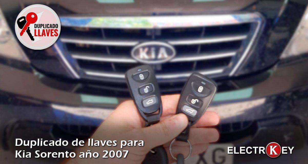Duplicado de llaves Kia Sorento año 2007 🔑🔑