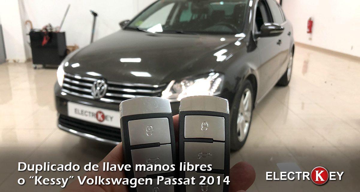 Duplicado llave manos libres kessy Volkswagen Passat 2014
