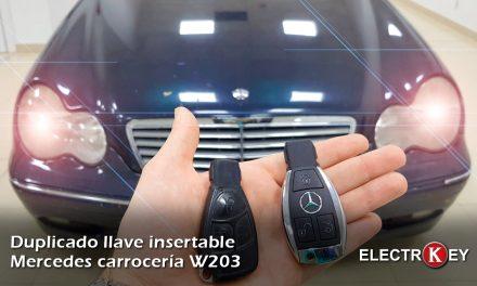 Duplicado llave Mercedes W203 🚗