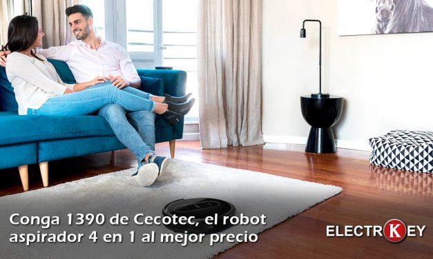 Conga 1390, el robot aspirador 4 en 1 al mejor precio