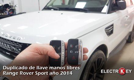 Duplicado de llave de Range Rover Sport año 2014 🔑