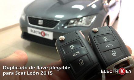 Copia de llave para Seat León año 2015 🔑🔑