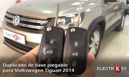 Duplicado de llave para Volkswagen Tiguan año 2014