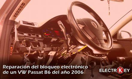 Reparación del bloqueo electrónico de VW Passat B6 2006