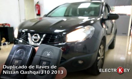 Copia de llave de Nissan Qashqai J10 2013