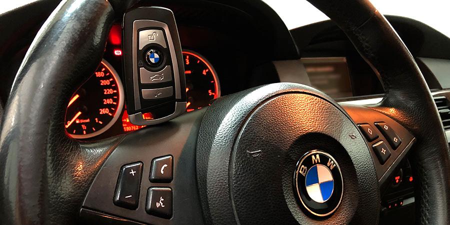 Duplicado con mejora de carcasa de BMW Serie 5 realizado en Electrokey