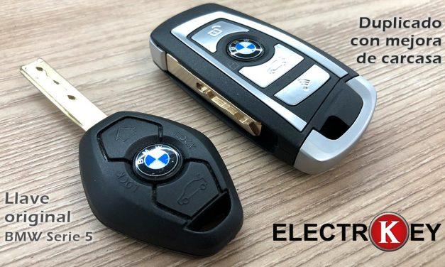 Duplicado y mejora carcasa llave BMW Serie 5 E60 2005