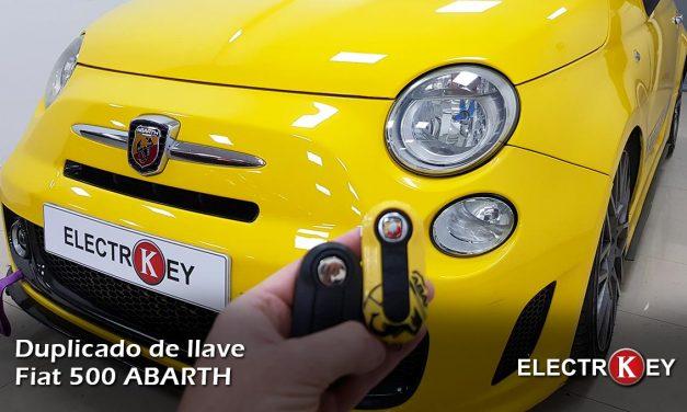 Copia de llave Fiat 500 ABARTH 🔑🔑