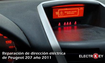 Reparación de dirección asistida eléctrica Peugeot 207 2011