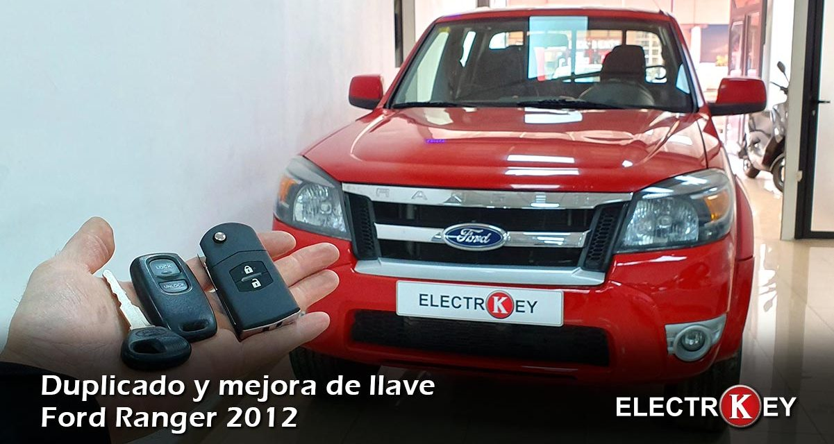Copia con mejora de carcasa y llave de Ford Ranger 2012