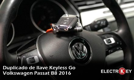 Copia de llave Keyless de Volkswagen Passat B8 2016