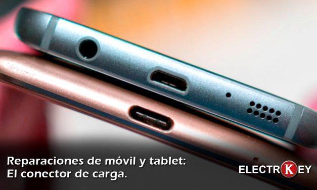 Reparar el conector de carga de un móvil o tablet