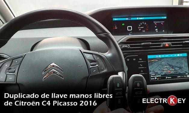 Duplicado de llave Keyless Citroen C4 Picasso 2016