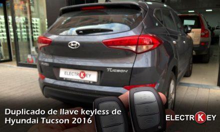 Copia de llave keyless de Hyundai Tucson 2016