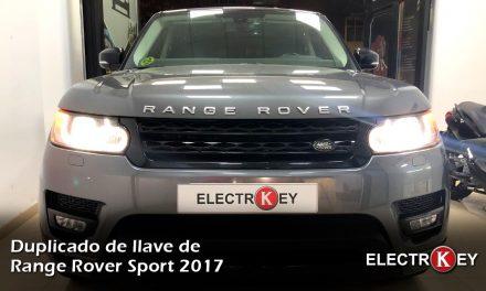 Copia de llaves de Range Rover Sport 2017
