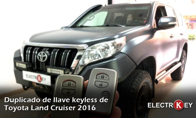 Copia de llaves keyless Toyota Land Cruiser 2016