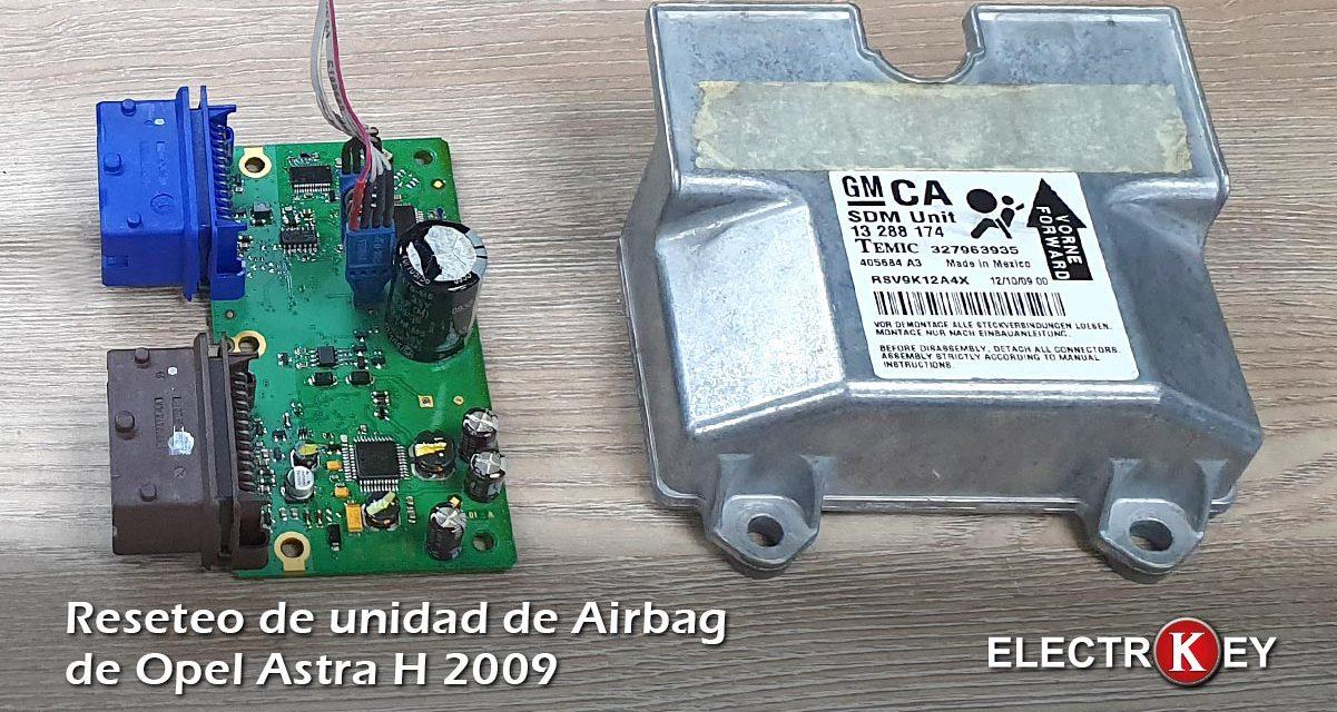 Resetear unidad airbag de Opel Astra H 2009