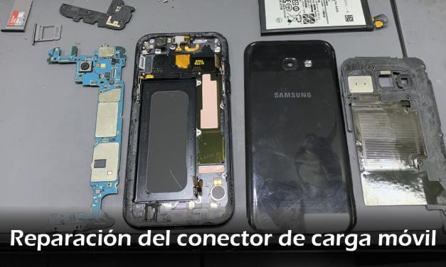 Reparación del conector de carga móvil
