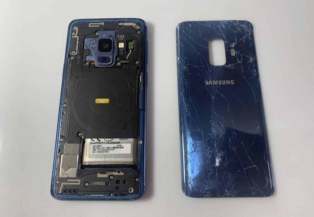 Reparación pantalla movil samsung s9