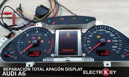 reparación total apagón display audi a6
